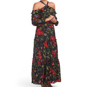 NWT LONDON TIMES Floral Halter Maxi Dress 10